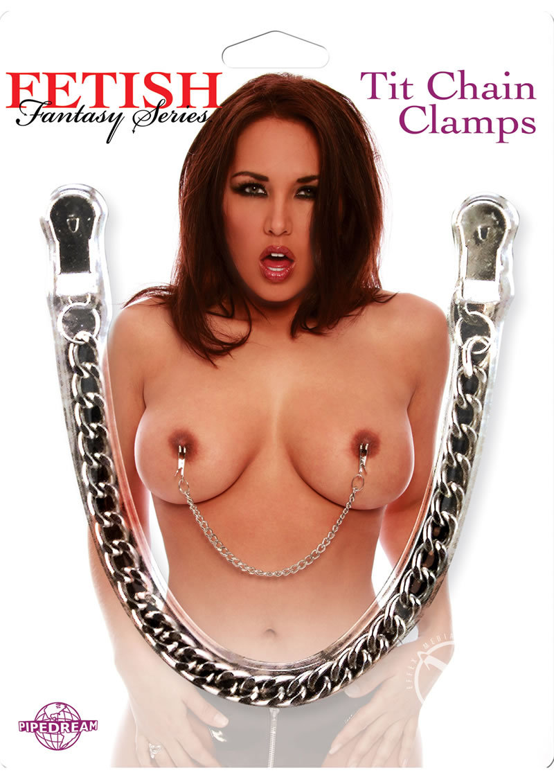 Fetish Fantasy Tit Chain Clamps Silver