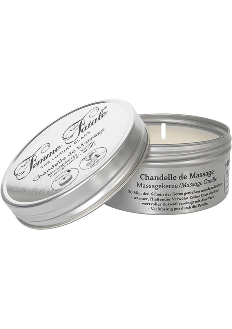Femme Fatale Chandelle De Massage Candle Vanilla 4.2 Ounce